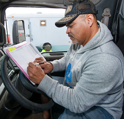 Truck driver log book rules